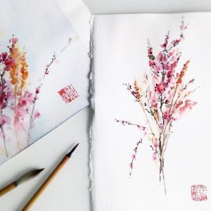 Акварельные цветы
