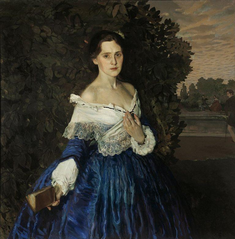 «Дама в голубом»   К. А. Сомов 1900 г.