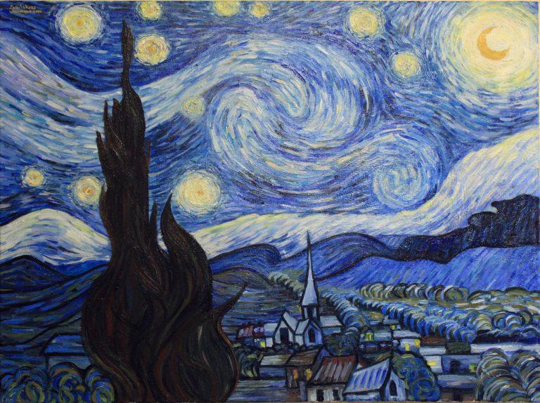 Винсент ван Гог «Звёздная ночь» 1889 г