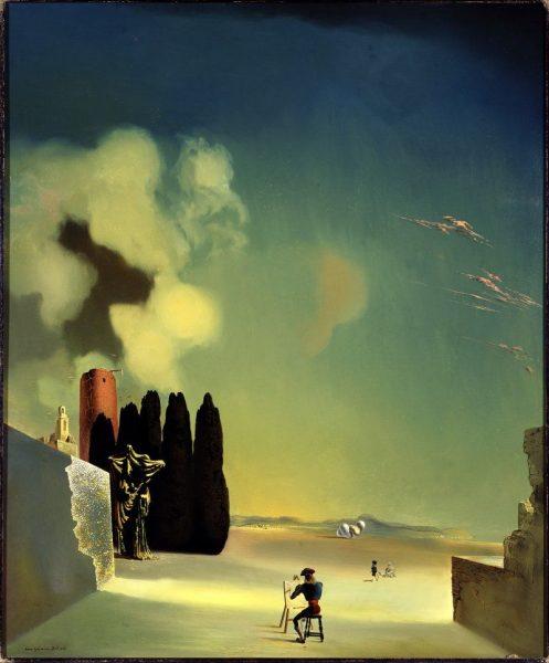 Сальвадор Дали «Пейзаж с загадочными деталями» 1934 г.